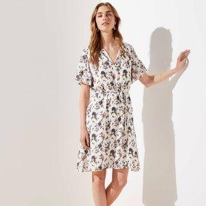 NWT LOFT Wildflower Flounce Dress